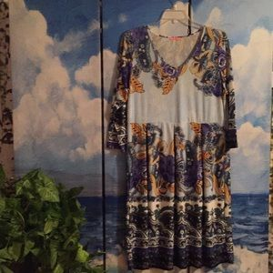 3X Simply Aster Dress V-neck Beautiful Floral